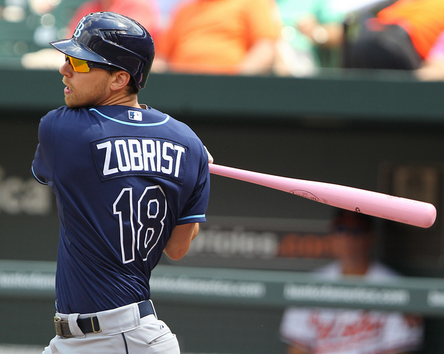Tampa Bay Rays Ben Zobrist - Photo Credit - Keith Allison
