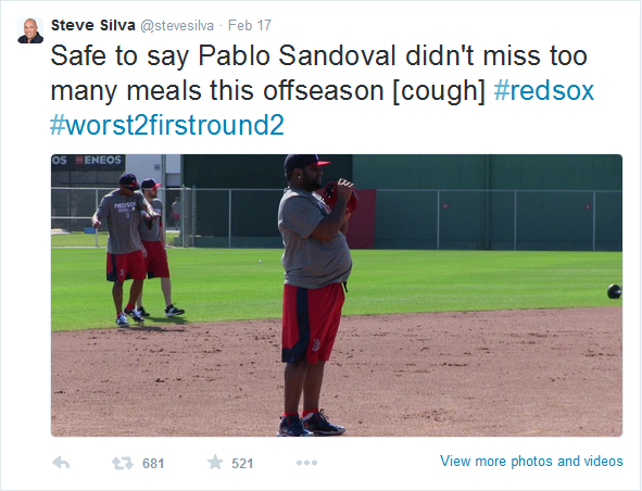 Pablo Sandoval Weight 2015