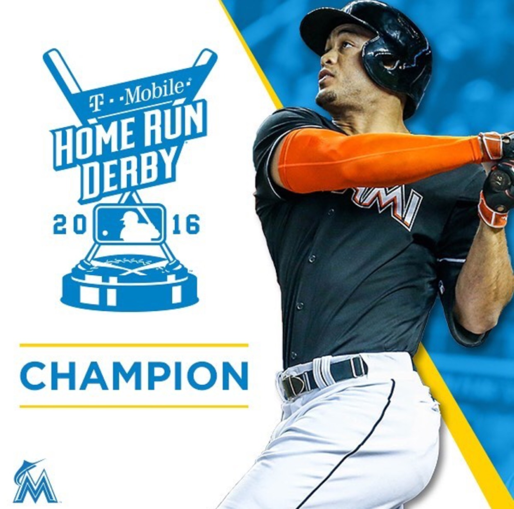 2016 Mlb Home Run Derby Giancarlo Stanton Wins Hot