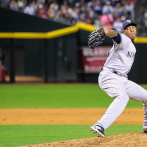 Aroldis Chapman delivers a pitch against the Arizona Diamondbacks at Chase Field. - Photo Credit: Zachary Lucy (Flickr - Creative Commons)