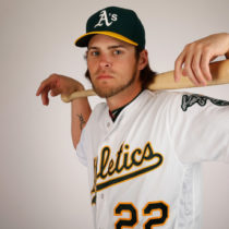 MESA, AZ - FEBRUARY 29:  Josh Reddick #22 of the Oakland Athletics poses for a portrait during the spring training photo day at HoHoKam Stadium on February 29, 2016 in Mesa, Arizona.  (Photo by Christian Petersen/Getty Images)