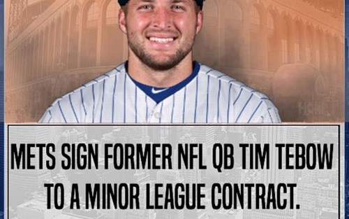 New York Mets Ink Tim Tebow To A Minor League Deal