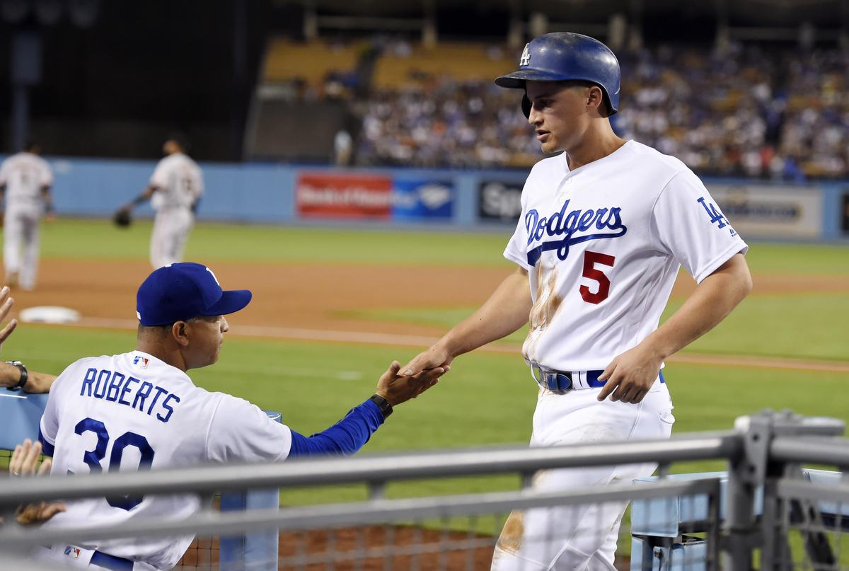 Dave Roberts, Corey Seager