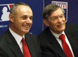 Rob Manred and Bud Selig