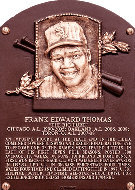 Frank Thomas Hall of Fame Plaque